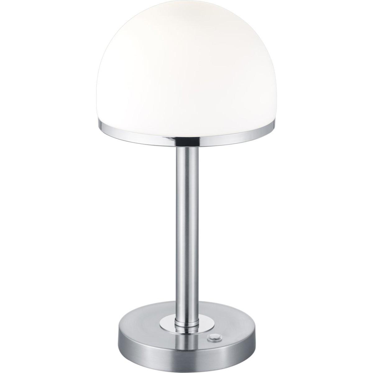 LED Tafellamp - Trion Berl - 4W - Warm Wit 3000K - Dimbaar - Rond - Mat Nikkel -