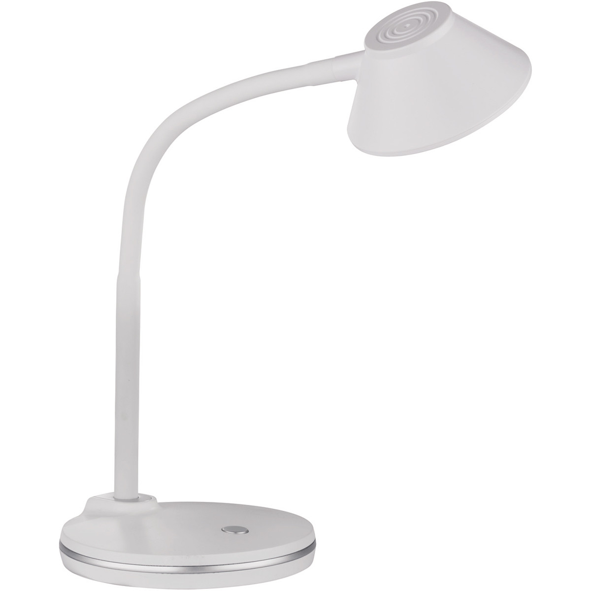 LED Tafellamp - Trion Berony - 3W - Warm Wit 3000K - Rond - Flexibele Arm - Mat