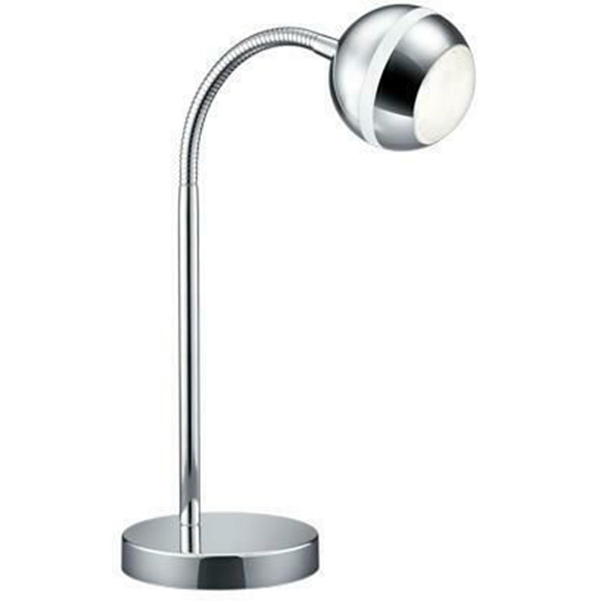 LED Tafellamp - Trion Bonaret - 3W - Warm Wit 3100K - Rond - Glans Chroom - Alum