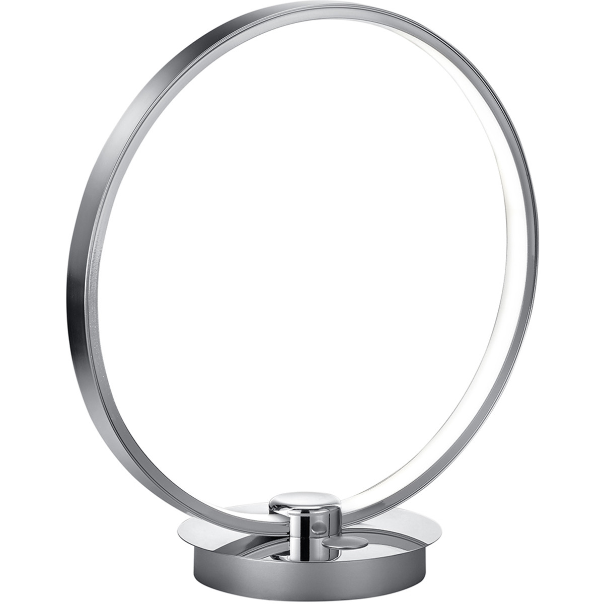 LED Tafellamp - Trion Danilo - 12W - Warm Wit 3000K - Dimbaar - Rond - Mat Chroom - Aluminium