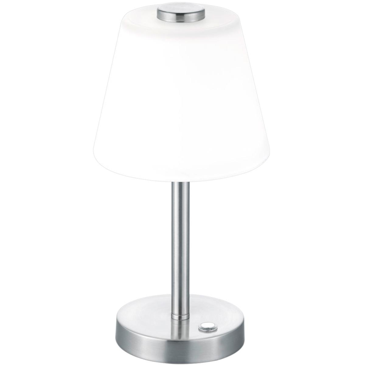 LED Tafellamp - Trion Emaro - 4W - Warm Wit 3000K - Dimbaar - Rond - Mat Nikkel