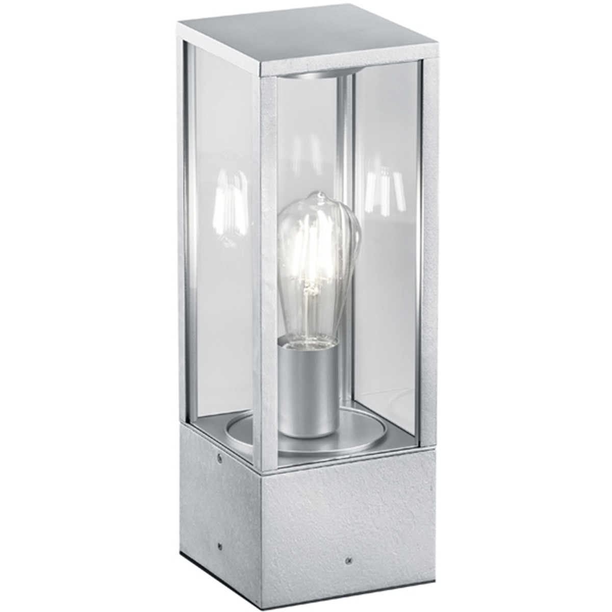LED Tuinverlichting - Staande Buitenlamp - Trion Garinola - E27 Fitting - Mat Grijs - Aluminium