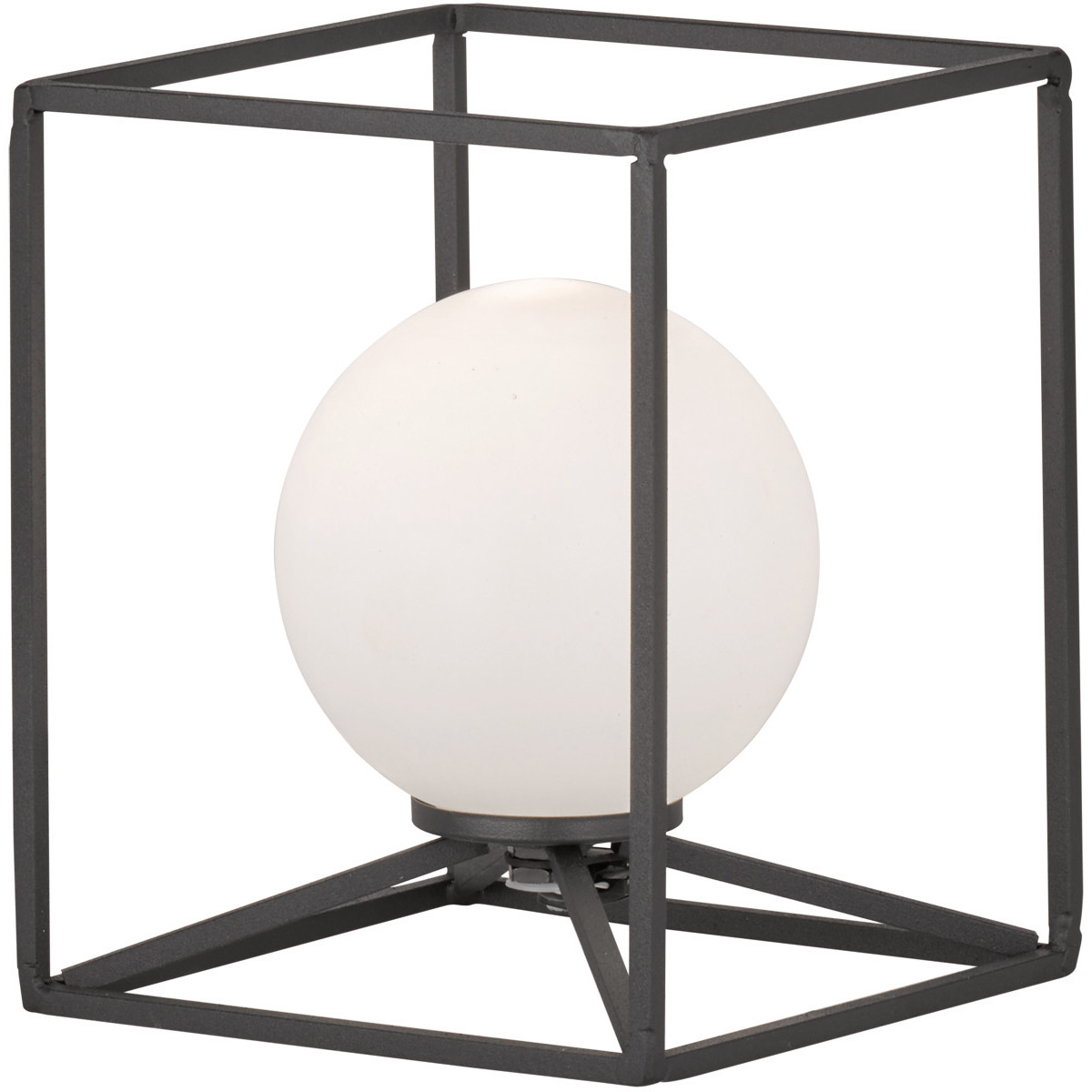 LED Tafellamp - Trion Gebia - G9 Fitting - Vierkant - Mat Zwart - Aluminium