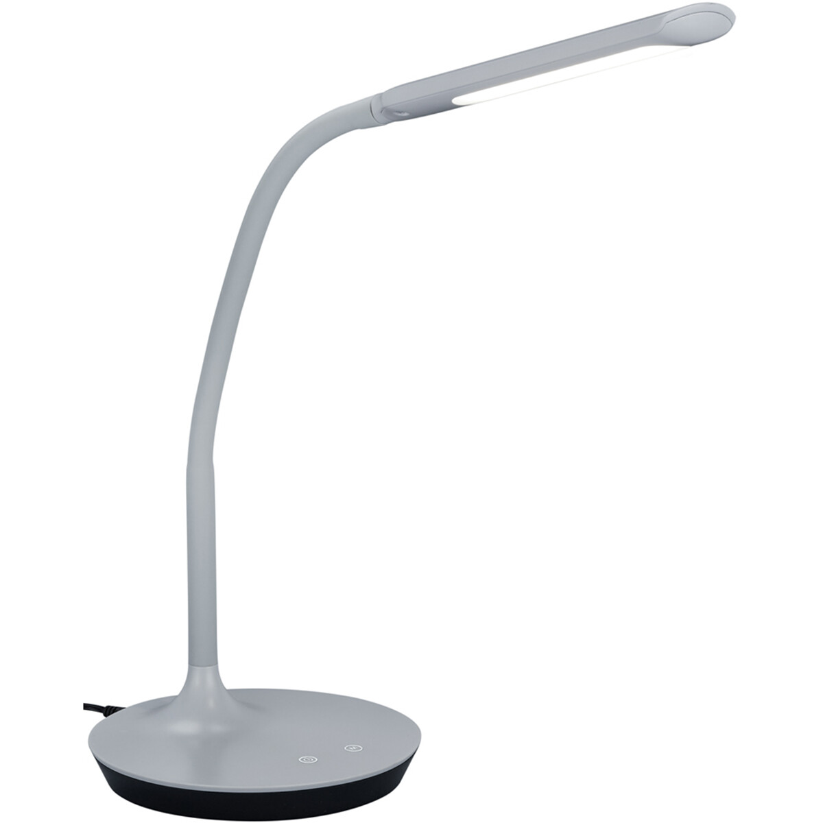 LED Tafellamp - Trion Polina - 5W - Aanpasbare Kleur - Dimbaar - Rond - Mat Grijs - Kunststof