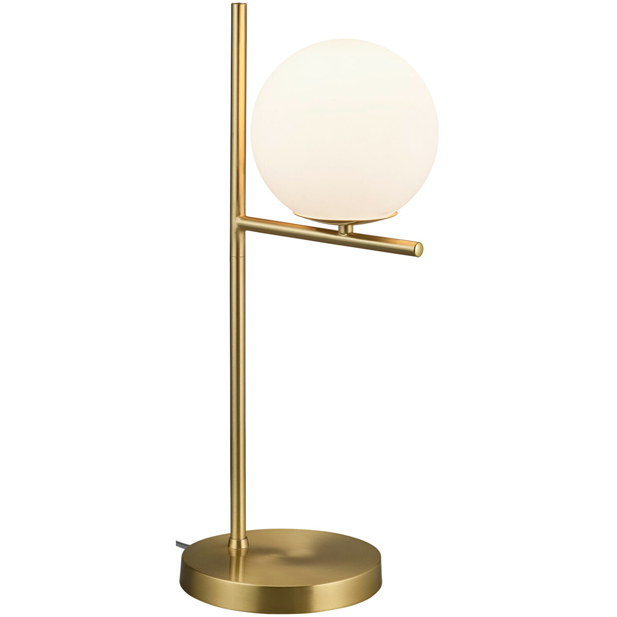 LED Tafellamp - Trion Pora - E14 Fitting - Rond - Mat Goud - Aluminium