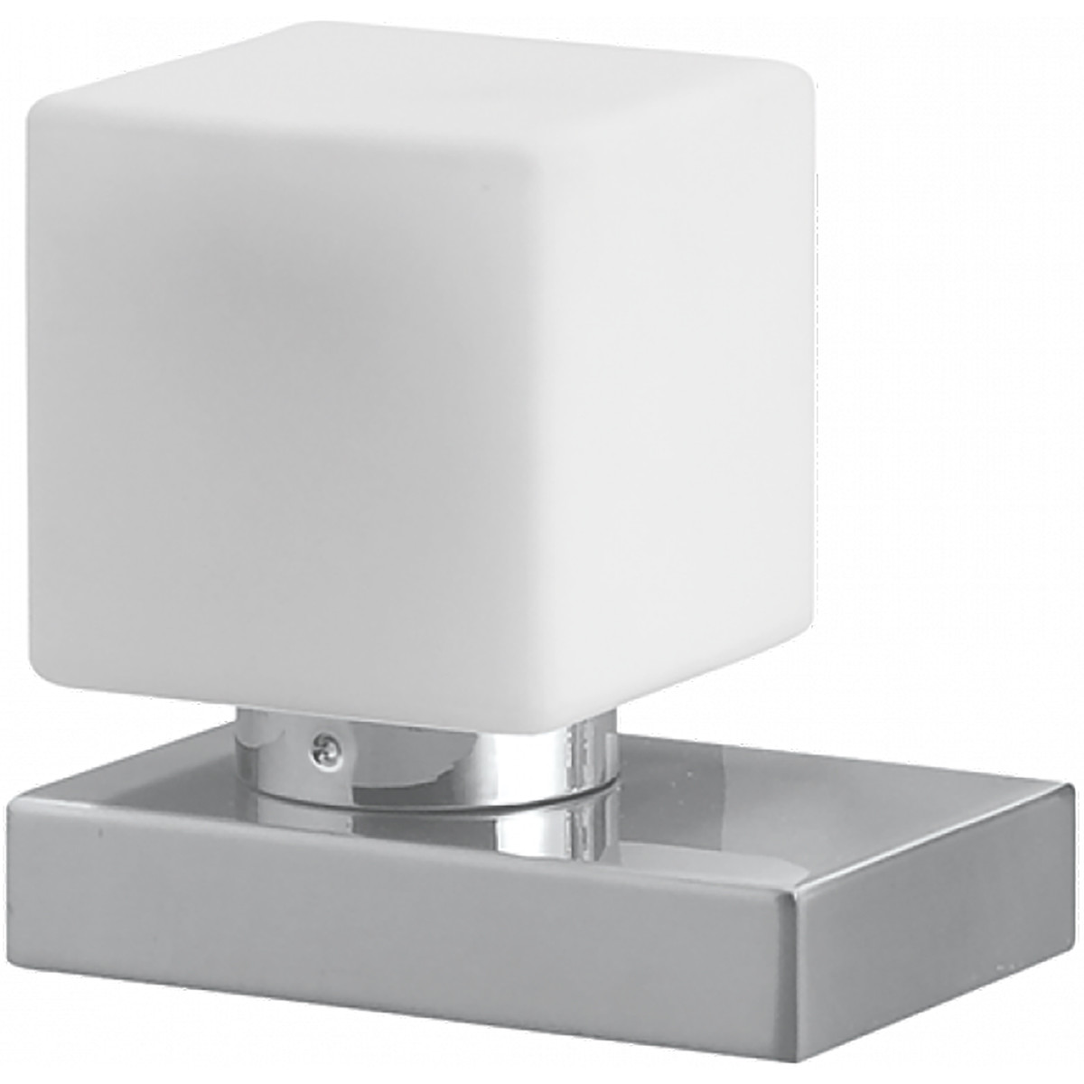 LED Tafellamp - Trion Tira - E14 Fitting - Dimbaar - Rechthoek - Mat Nikkel - Aluminium