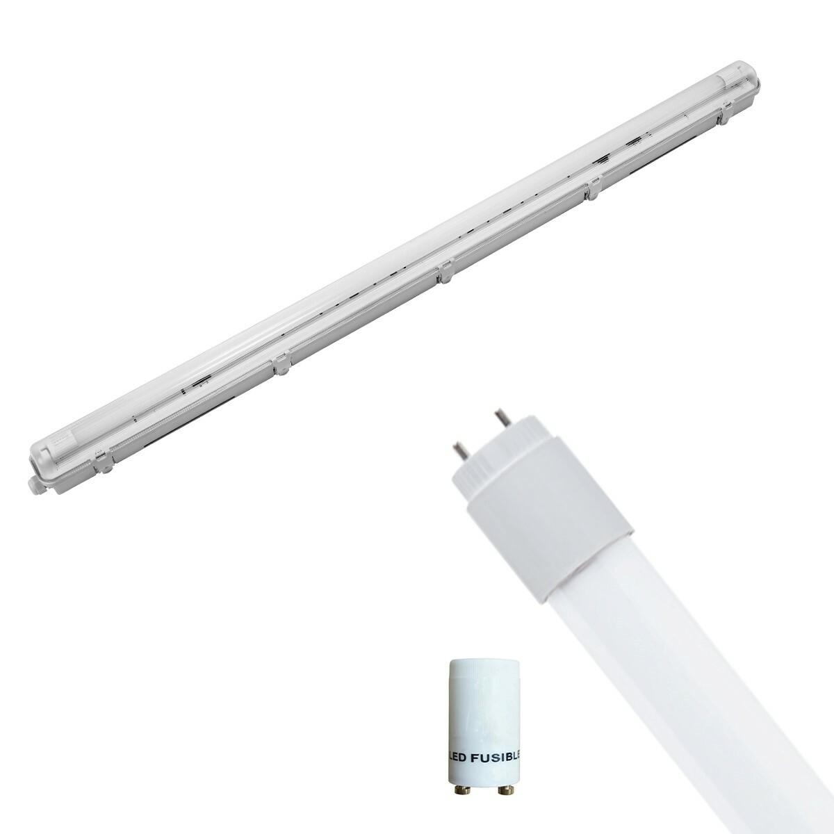 LED TL Armatuur met T8 Buis Incl. Starter - Pragmi Housing Pro - 120cm Enkel - 16W - Helder/Koud Wit