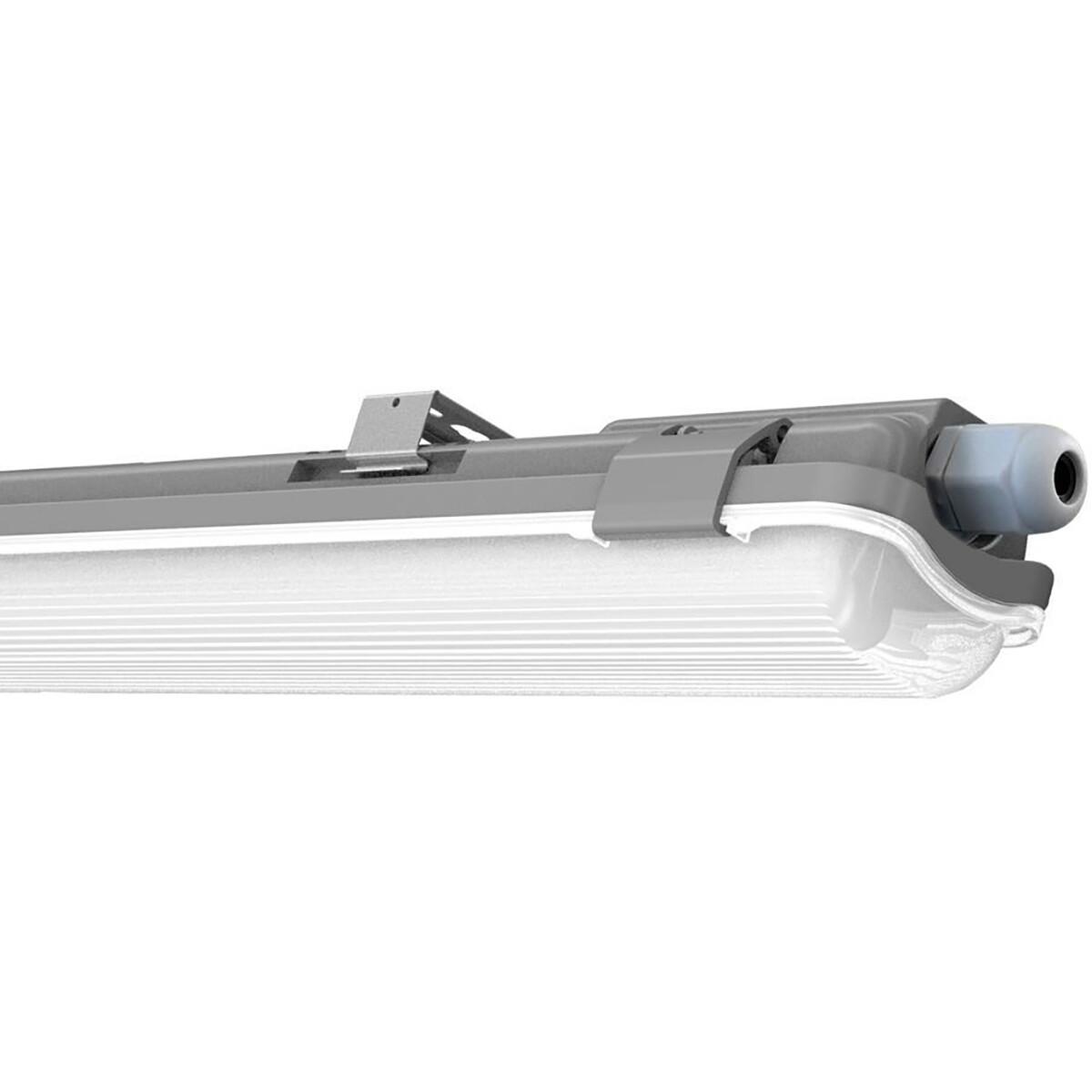 LED TL Armatuur met T8 Buis - Viron Truno - 150cm Enkel - 22W - Helder/Koud Wit 6400K - Mat Wit - Ku