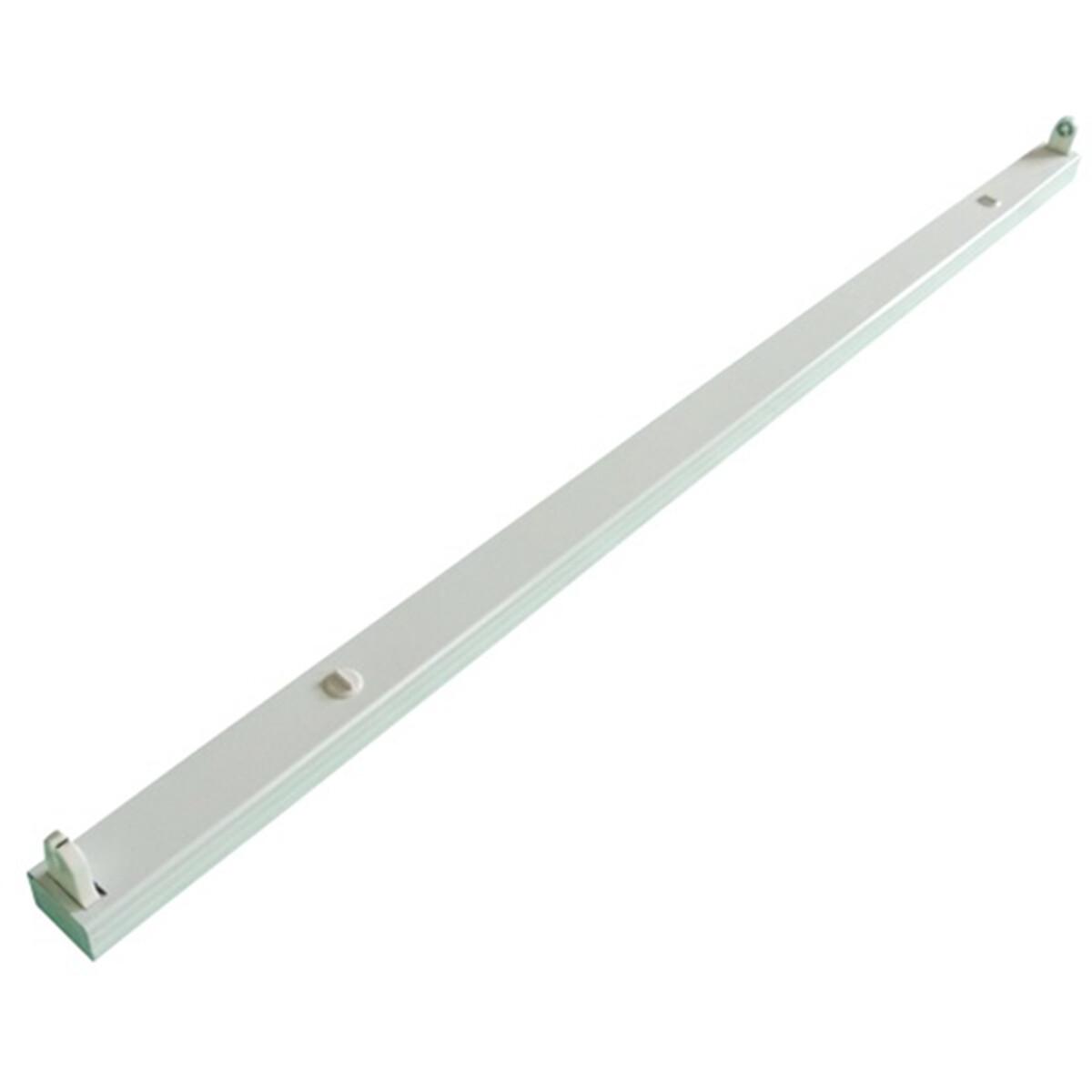 LED TL Armatuur T8 - Aigi Dybolo - 150cm Enkel - IP20 - Mat Wit - Staal