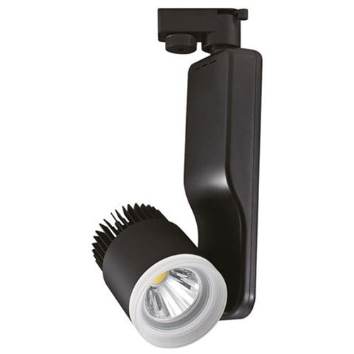 LED Railverlichting - Track Spot - 23W 1 Fase - Rond - Natuurlijk Wit 4200K - Mat Zwart Aluminium