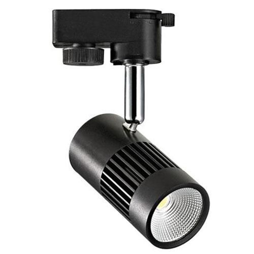 LED Railverlichting - Track Spot - 8W 1 Fase - Rond - Natuurlijk Wit 4200K - Mat Zwart Aluminium