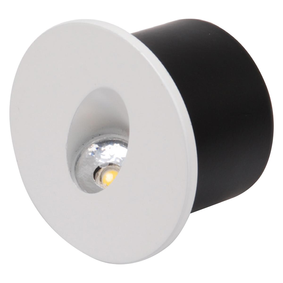 LED Trapspot - Inbouw Rond 3W - Natuurlijk Wit 4000K - Mat Wit Aluminium - Ø78mm