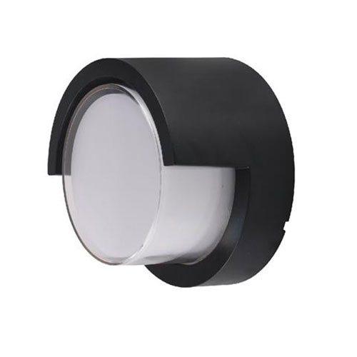 LED Tuinverlichting - Buitenlamp - Agusa 1 - Wand - Kunststof Mat Zwart - 12W Na