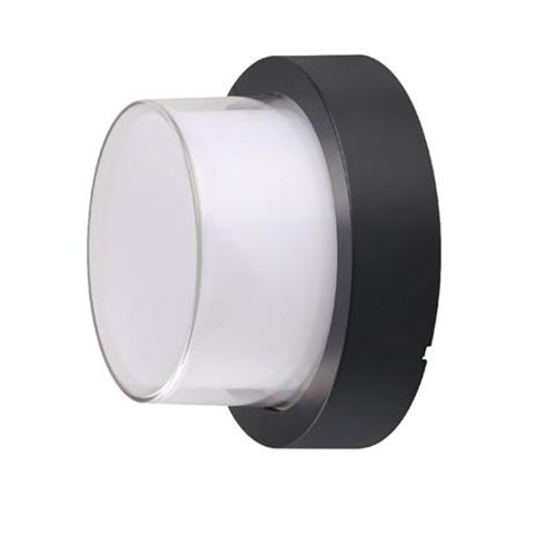 LED Tuinverlichting - Buitenlamp - Agusa 2 - Wand - Kunststof Mat Zwart - 12W Na