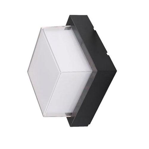 LED Tuinverlichting - Buitenlamp - Agusa 4 - Wand - Kunststof Mat Zwart - 12W Na