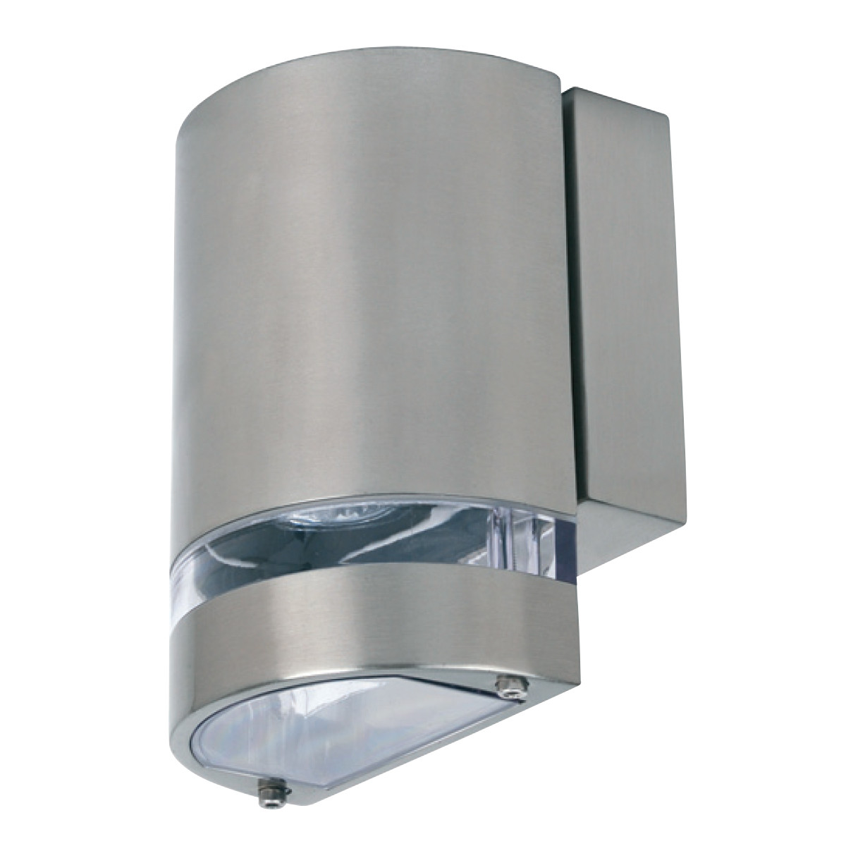 LED Tuinverlichting - Buitenlamp - Gardy 3 - Wand - RVS Mat Chroom - GU10 - Ovaal