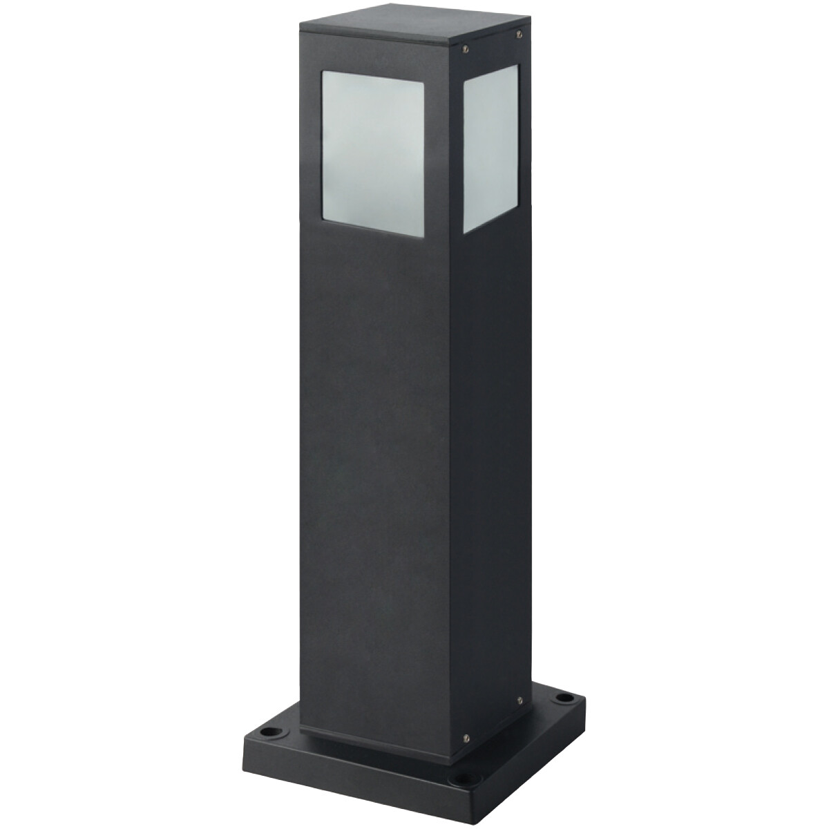 LED Tuinverlichting - Buitenlamp - Kavy 4 - Staand - Aluminium Mat Zwart - E27 - Vierkant