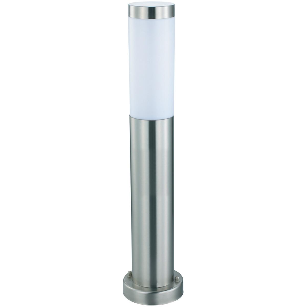 LED Tuinverlichting - Buitenlamp - Laurea 4 - Staand - RVS - E27 - Rond