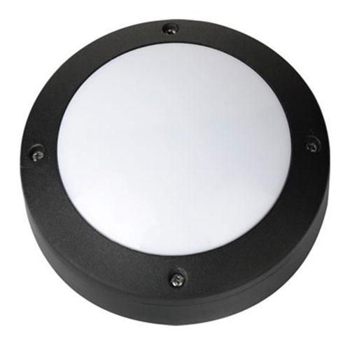 LED Tuinverlichting - Buitenlamp - Maron - Wand - Aluminium Mat Zwart - 6W Natuu