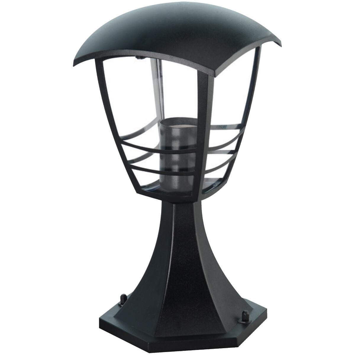 LED Tuinverlichting - Buitenlamp - Narmy 3 - Staand - Mat Zwart - E27 Fitting - Rond - Aluminium