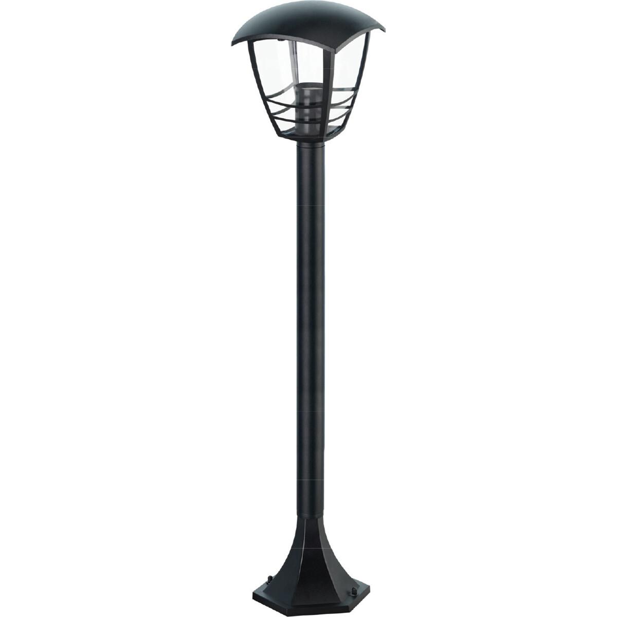 LED Tuinverlichting - Buitenlamp - Narmy 5 - Staand - Mat Zwart - E27 Fitting - Rond - Aluminium