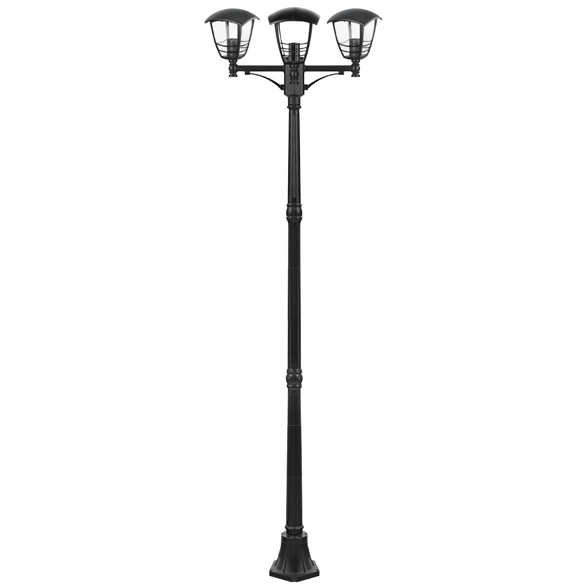 LED Tuinverlichting - Buitenlamp - Narmy 7 - Staand - Mat Zwart - E27 Fitting - Rond - Aluminium