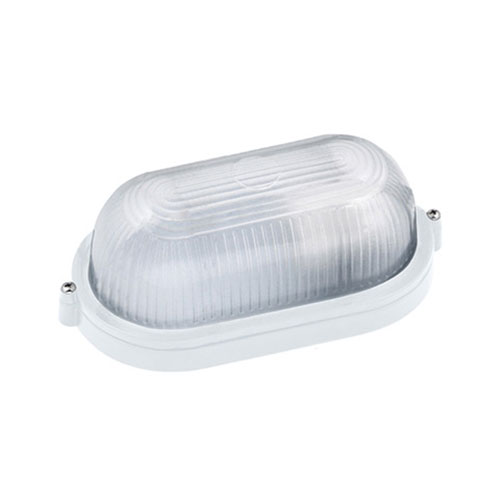 LED Tuinverlichting - Buitenlamp - Nimrat - Wand - Aluminium Mat Wit - E27 - Ovaal