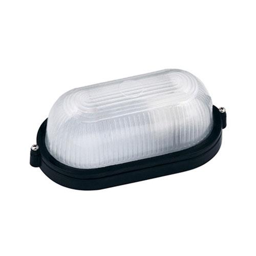 LED Tuinverlichting - Buitenlamp - Nimrat - Wand - Aluminium Mat Zwart - E27 - Ovaal