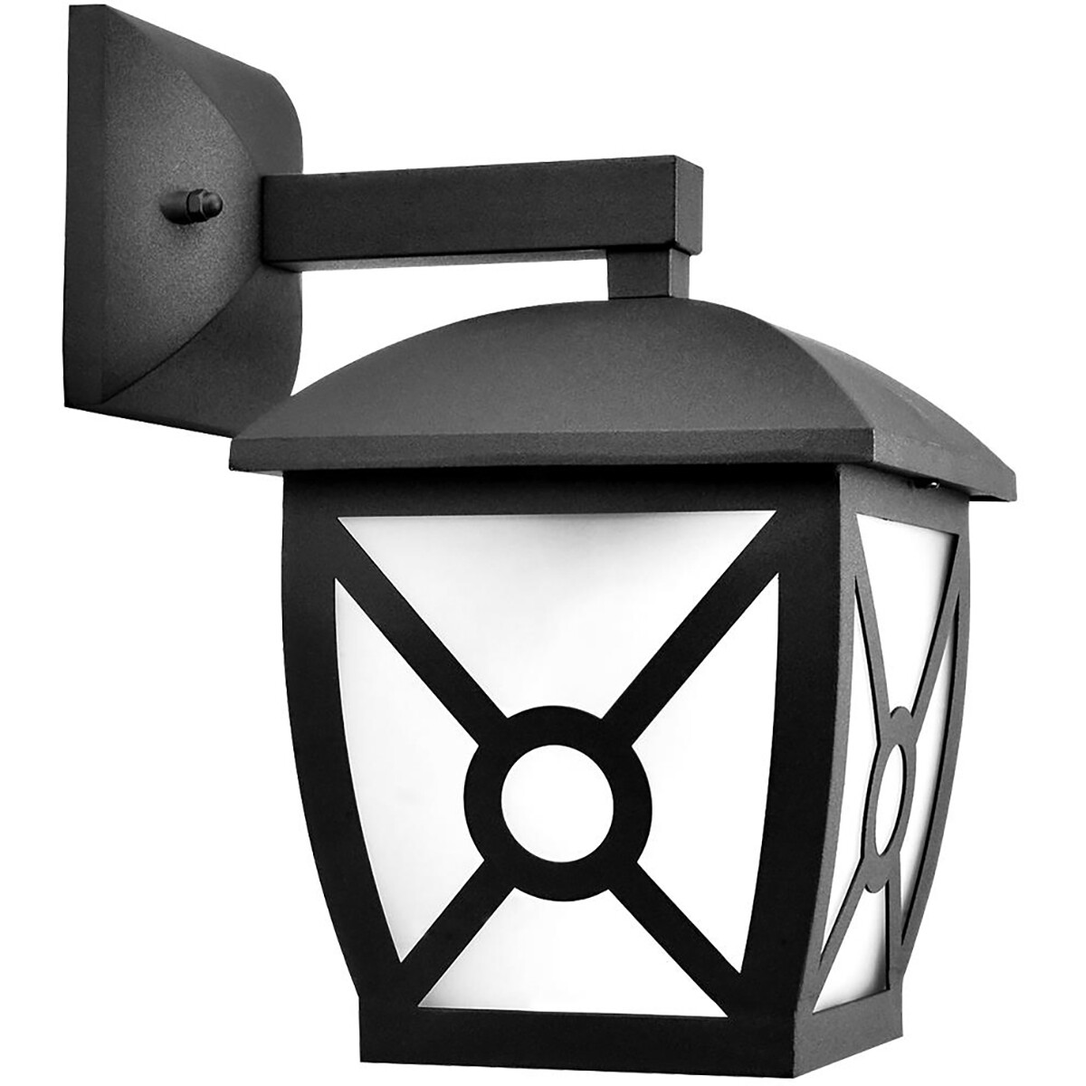 LED Tuinverlichting - Buitenlamp Nostalgisch - Aigi Nasto Down - E27 Fitting - Mat Zwart - Aluminium