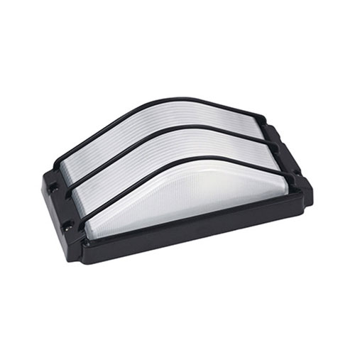 LED Tuinverlichting - Buitenlamp - Ovalis - Wand - Aluminium Mat Zwart - E27 - Rechthoek