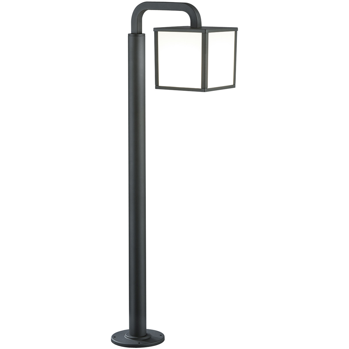 LED Tuinverlichting - Buitenlamp - Trion Cubirino - Staand - 5W - E27 Fitting - Mat Zwart - Aluminiu