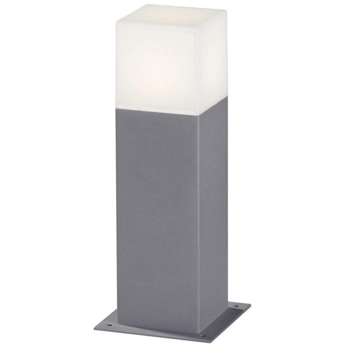 LED Tuinverlichting - Buitenlamp - Trion Hudsy - Staand - 4W - Mat Titaan - Aluminium