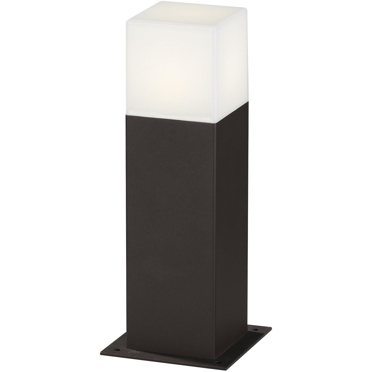 LED Tuinverlichting - Buitenlamp - Trion Hudsy - Staand - 4W - Mat Zwart - Aluminium