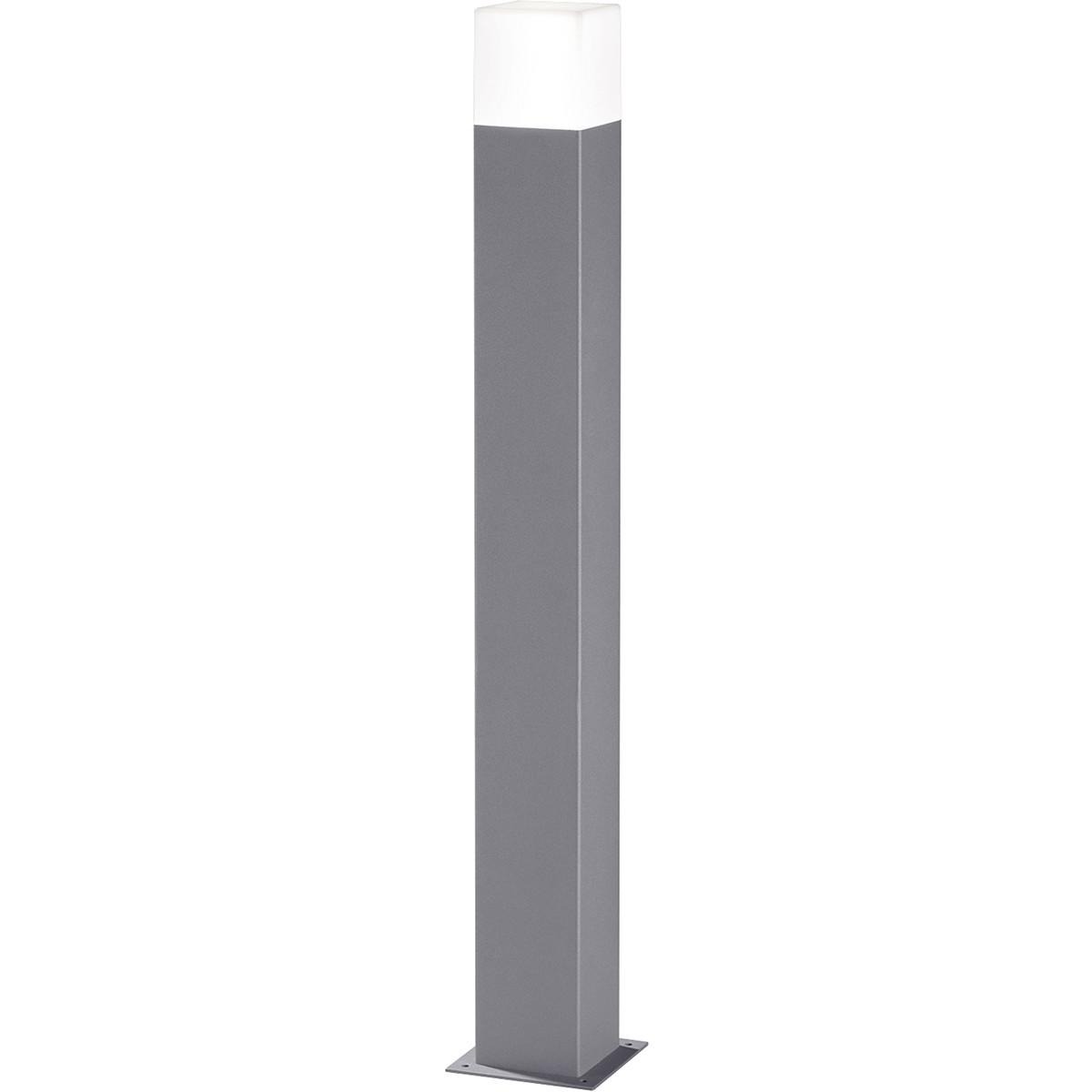 LED Tuinverlichting - Buitenlamp - Trion Hudsy XL - Staand - 4W - Mat Titaan - Aluminium