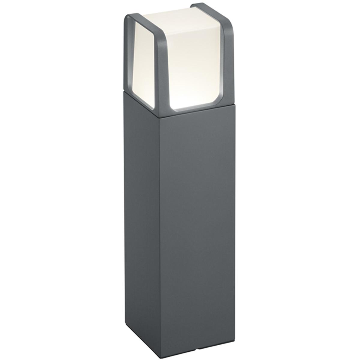 LED Tuinverlichting - Buitenlamp - Trion Ibroly - Staand - 6W - Mat Zwart - Aluminium