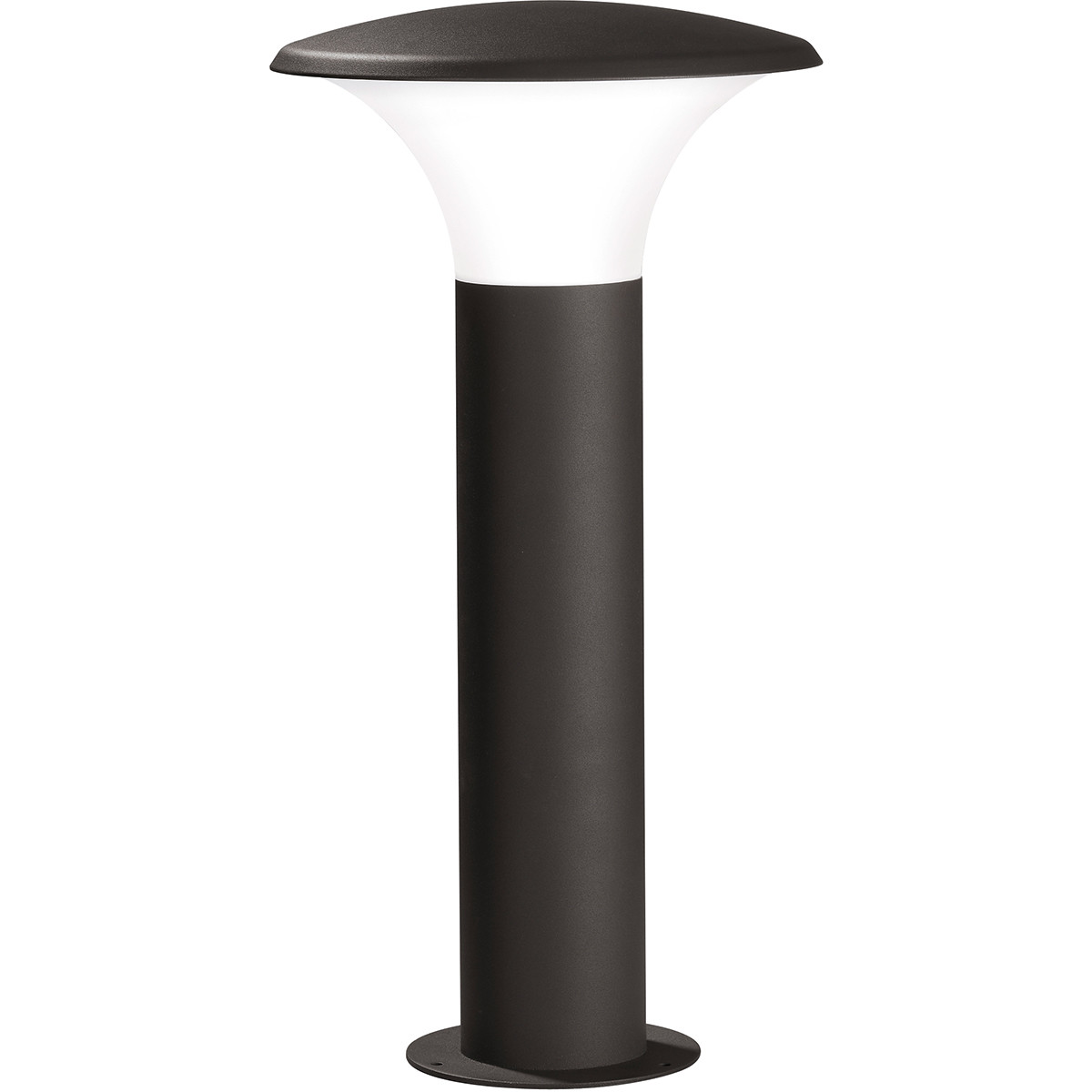 LED Tuinverlichting - Buitenlamp - Trion Karminy - Staand - 5W - E27 Fitting - Mat Zwart - Aluminium