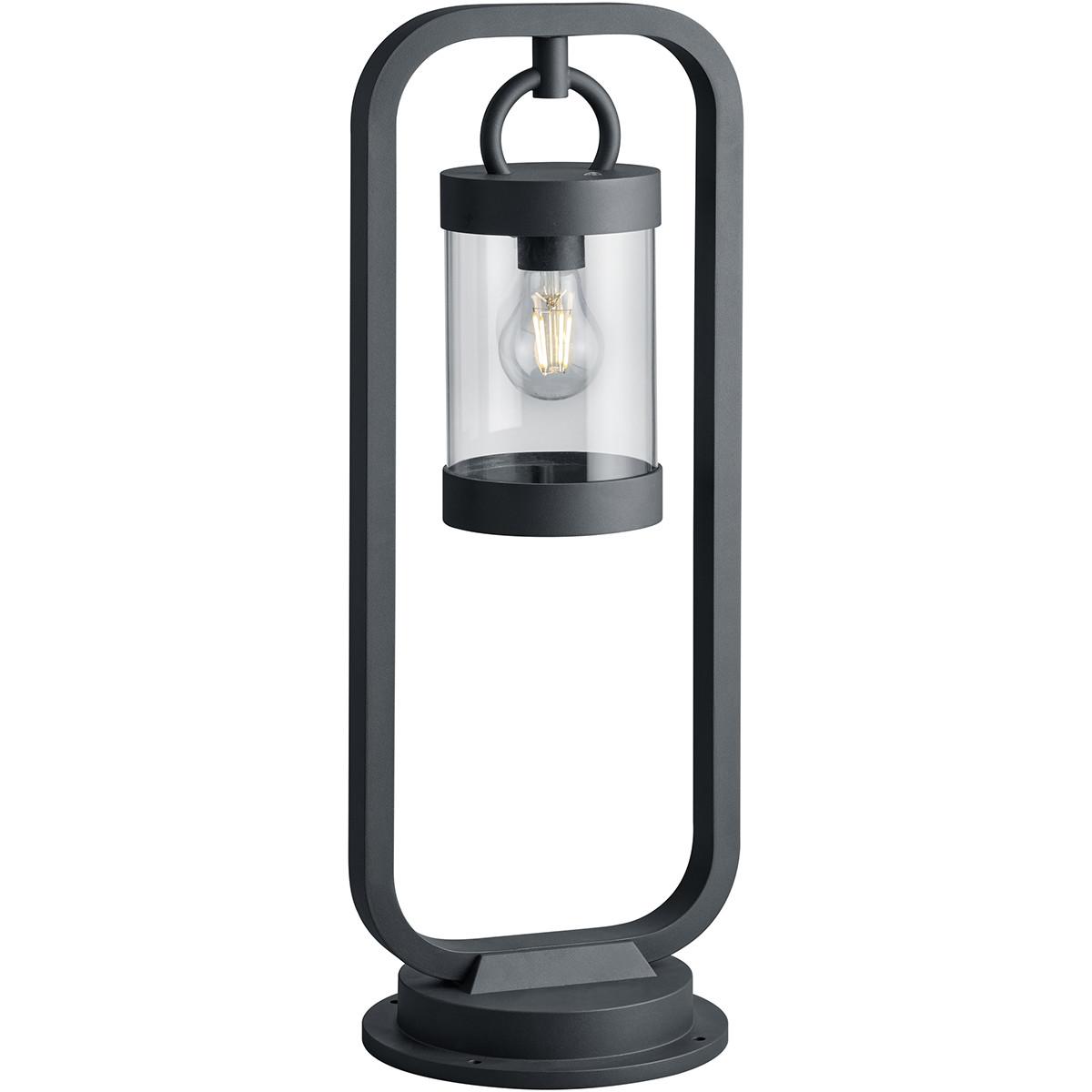 LED Tuinverlichting - Buitenlamp - Trion Semby - Staand - Lichtsensor - E27 Fitting - Mat Zwart - Al