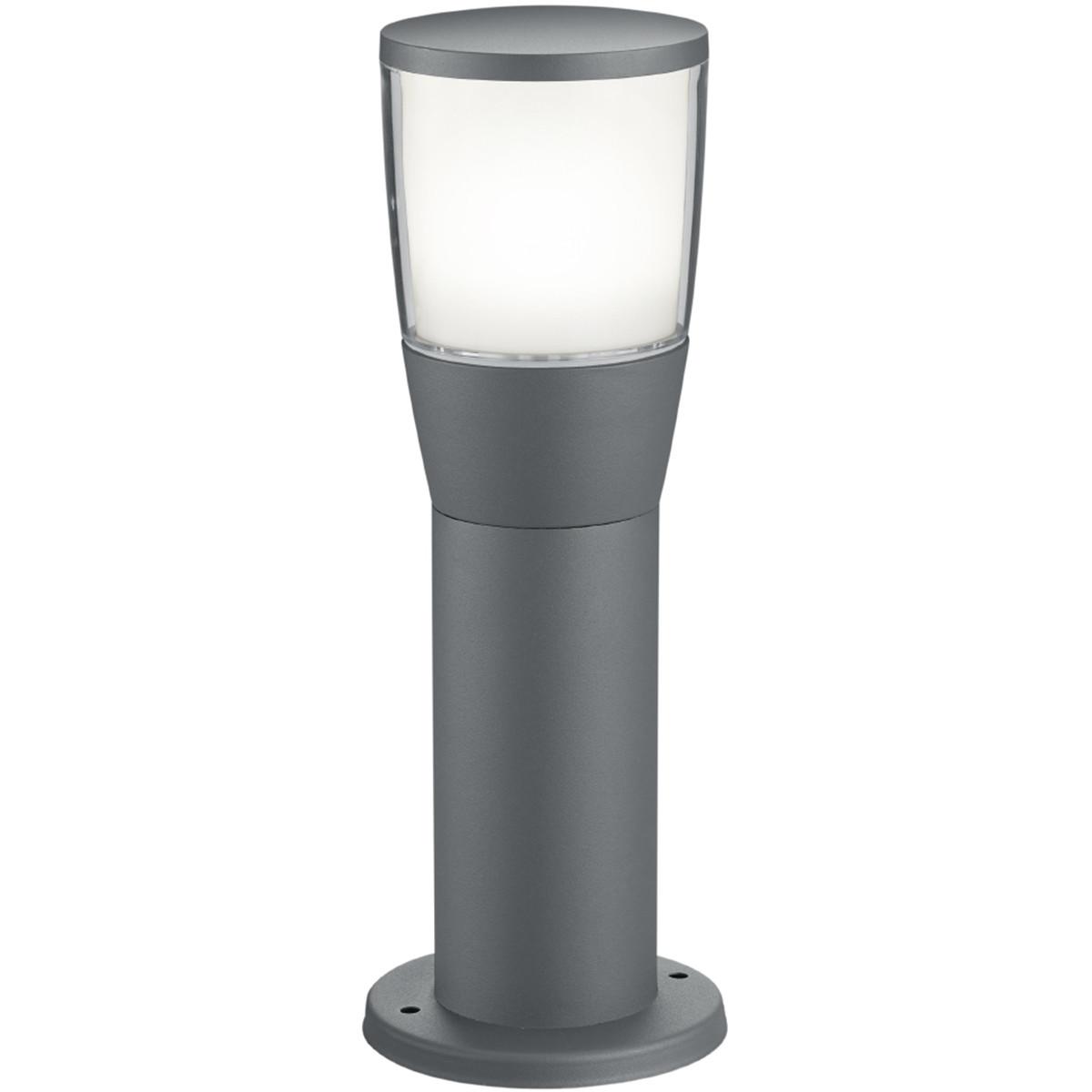 LED Tuinverlichting - Buitenlamp - Trion Shanila - Staand - 7W - Mat Zwart - Aluminium