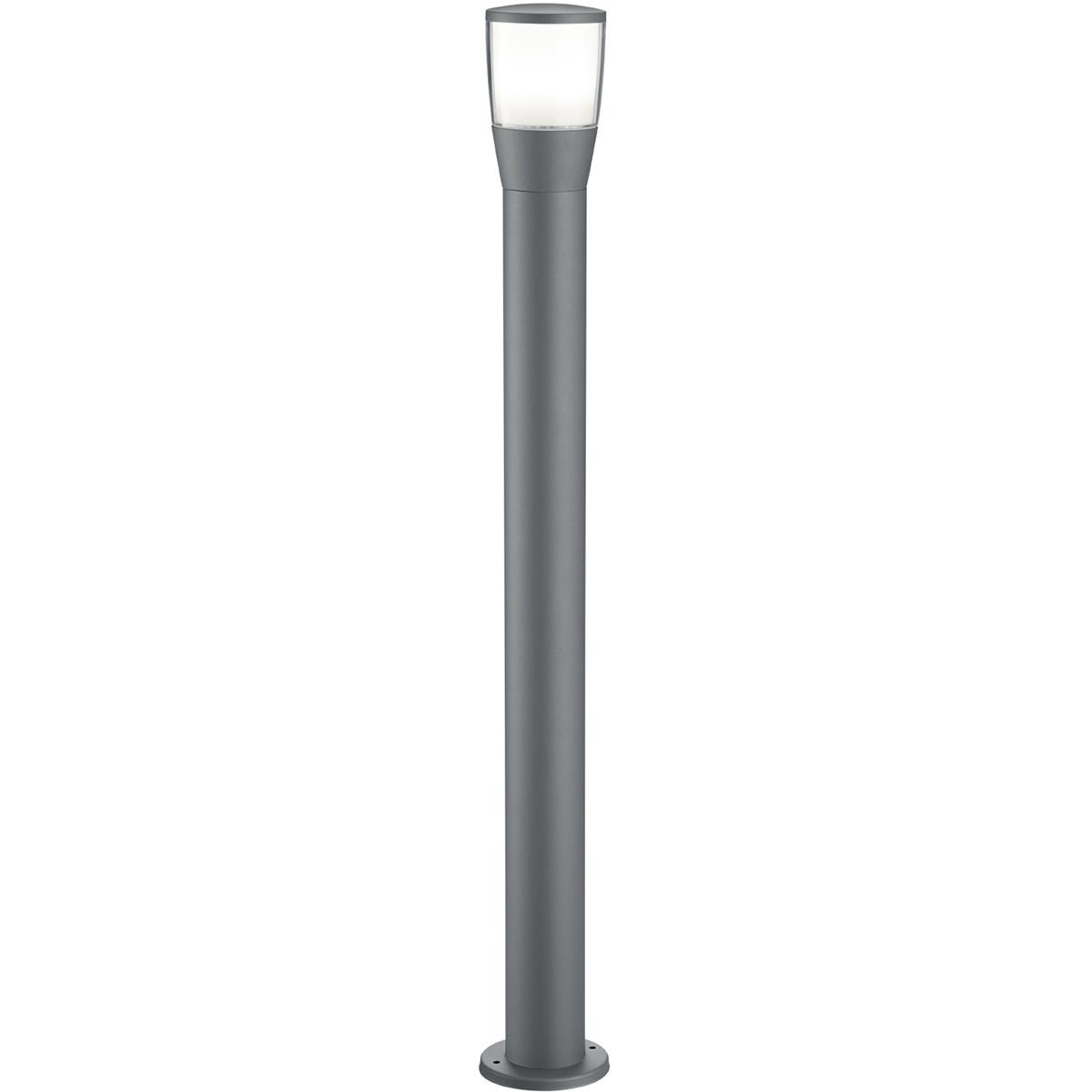 LED Tuinverlichting - Buitenlamp - Trion Shanila XL - Staand - 7W - Mat Zwart - Aluminium