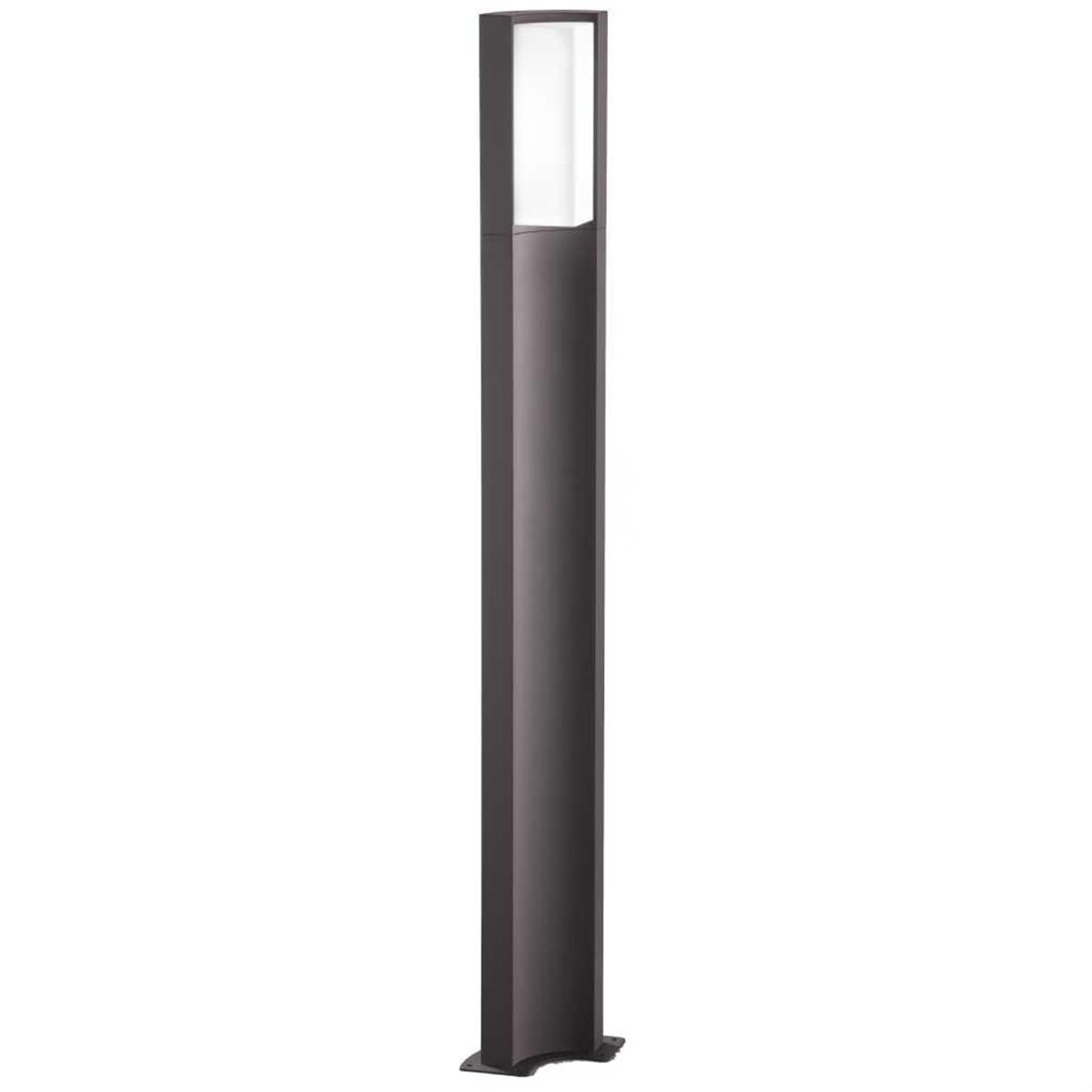 LED Tuinverlichting - Buitenlamp - Trion Soane XL - Staand - 8W - Mat Zwart - Aluminium