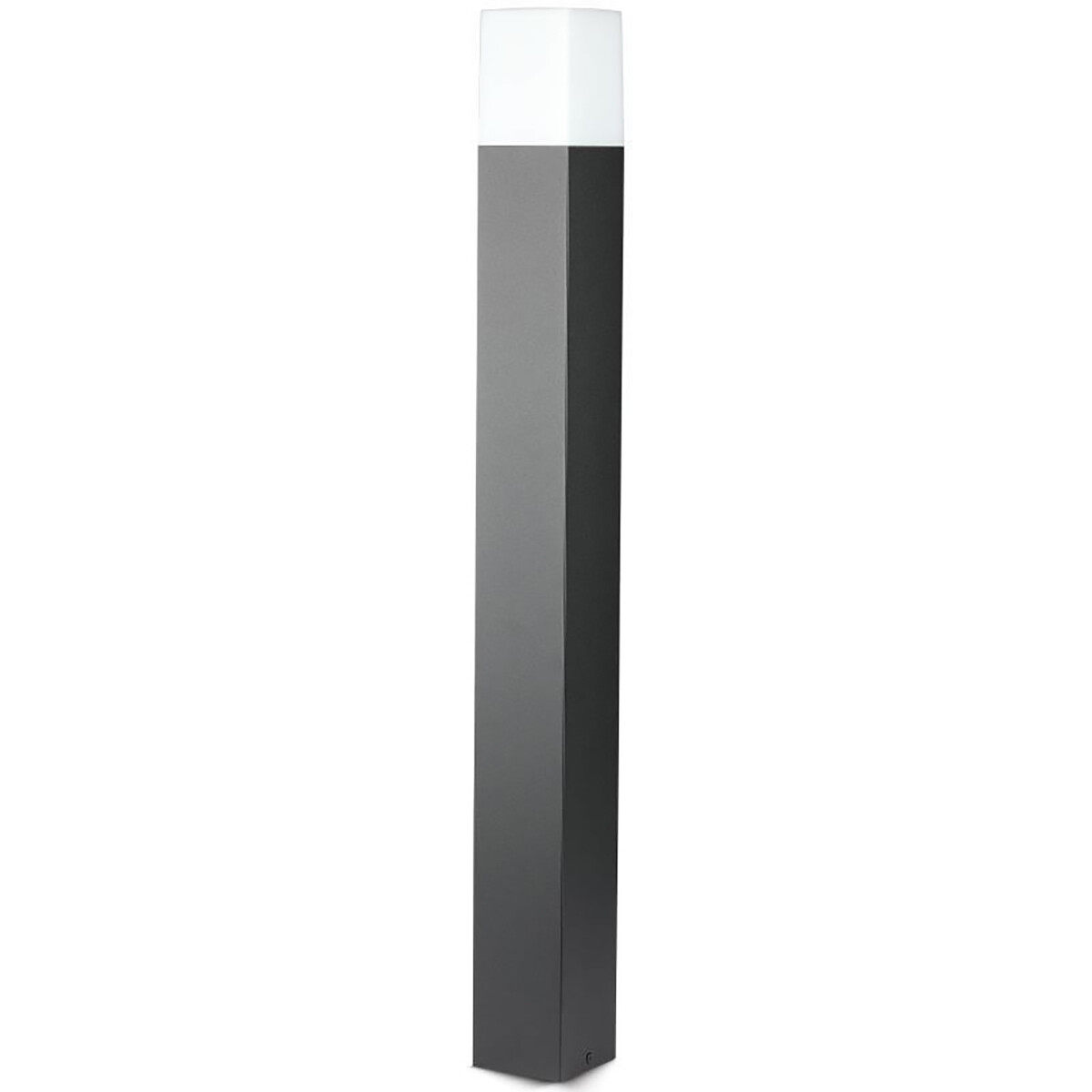 LED Tuinverlichting - Staande Buitenlamp - Viron Hyno - GU10 Fitting - Rechthoek - Mat Zwart - Alumi