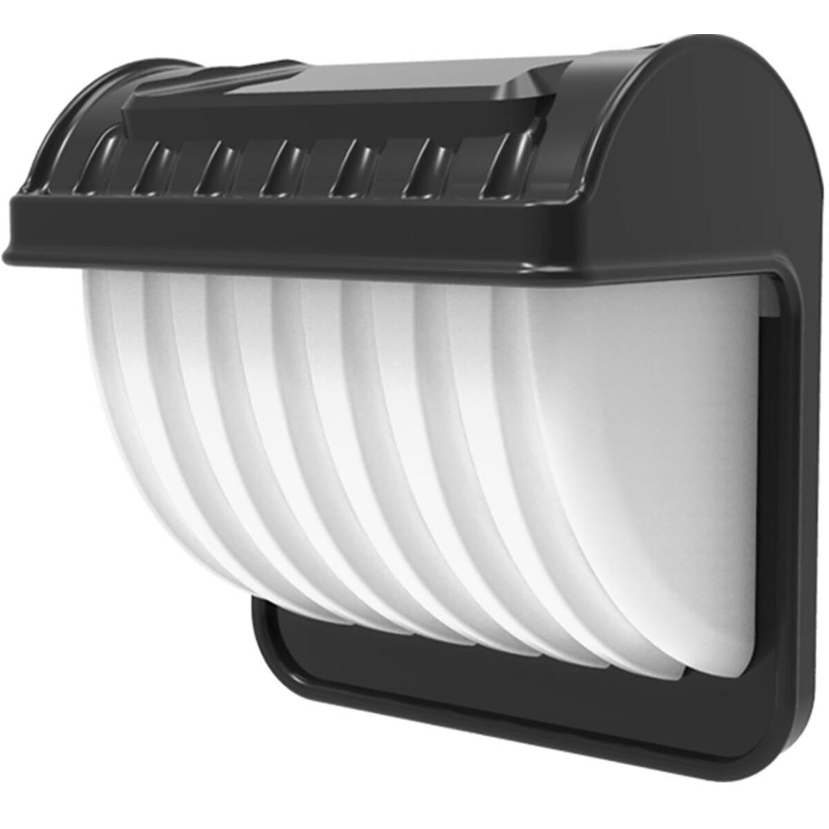 LED Tuinverlichting met Zonne-energie - Dag en Nacht Sensor - Wandlamp - Aigi Vunci - 0.12W - Helder