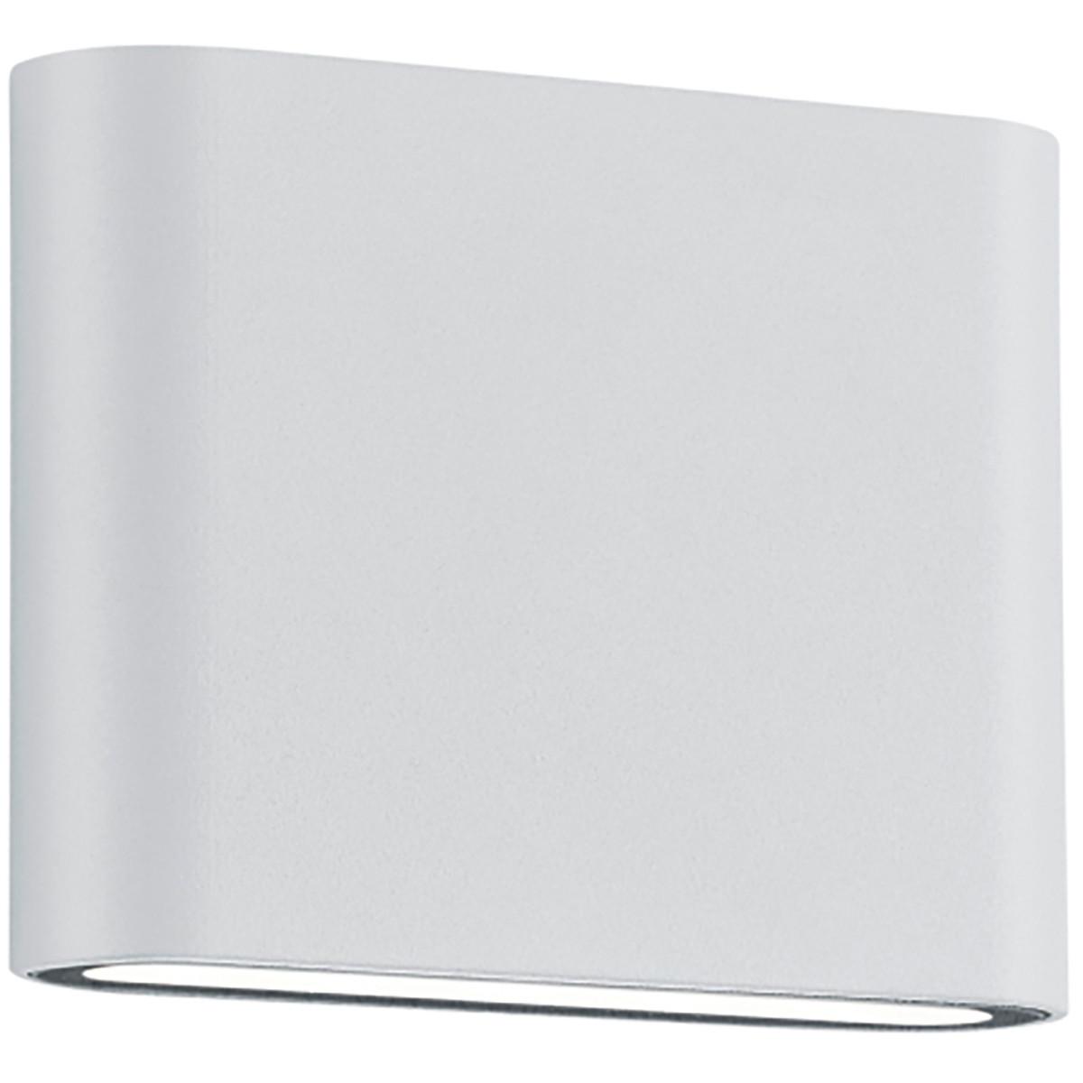 LED Tuinverlichting - Tuinlamp - Trion Thino - Wand - 4W - Mat Wit - Aluminium