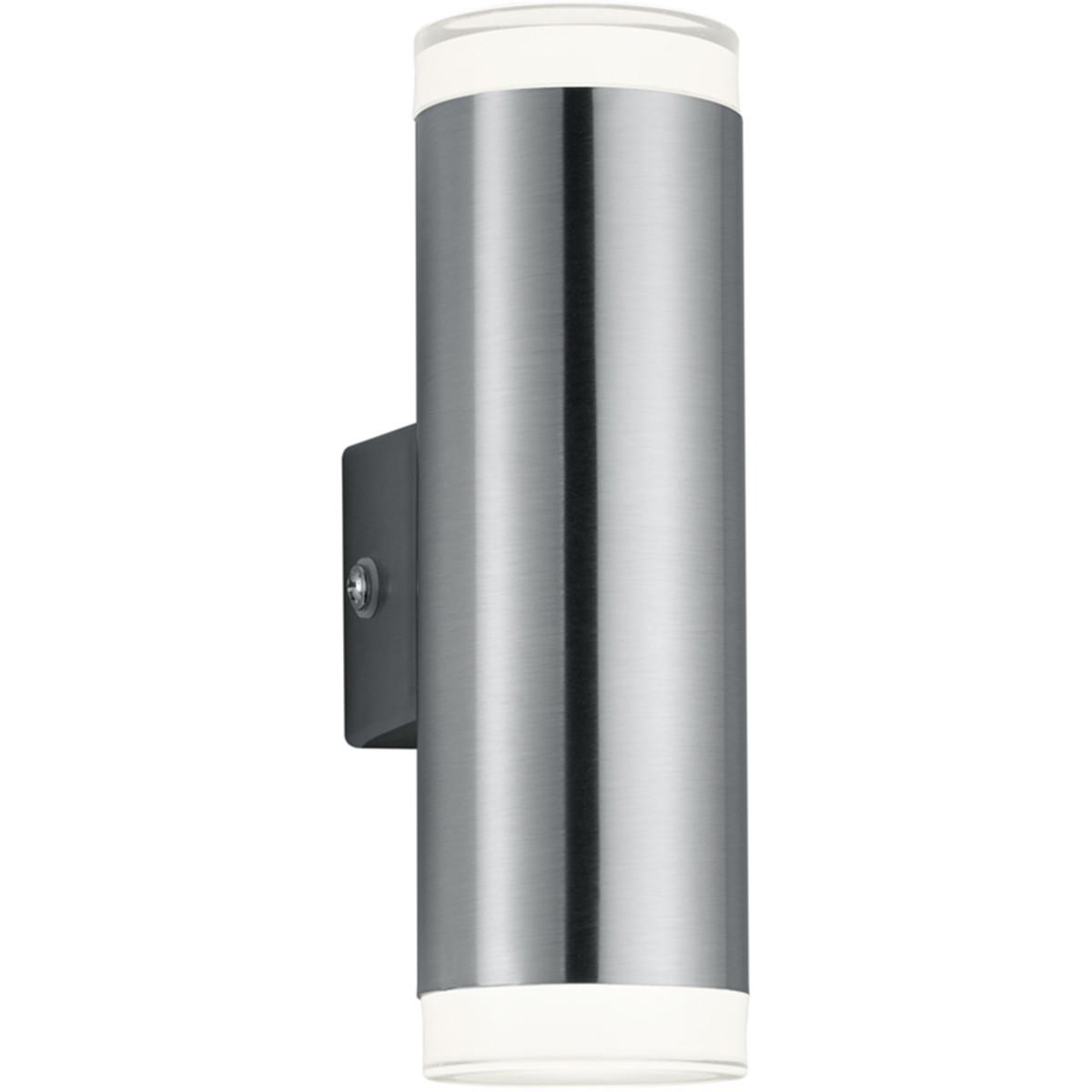 LED Tuinverlichting - Tuinlamp - Trion Arinat - Wand - 2-lichts - 4W - Warm Wit 3000K - Rond - Mat N