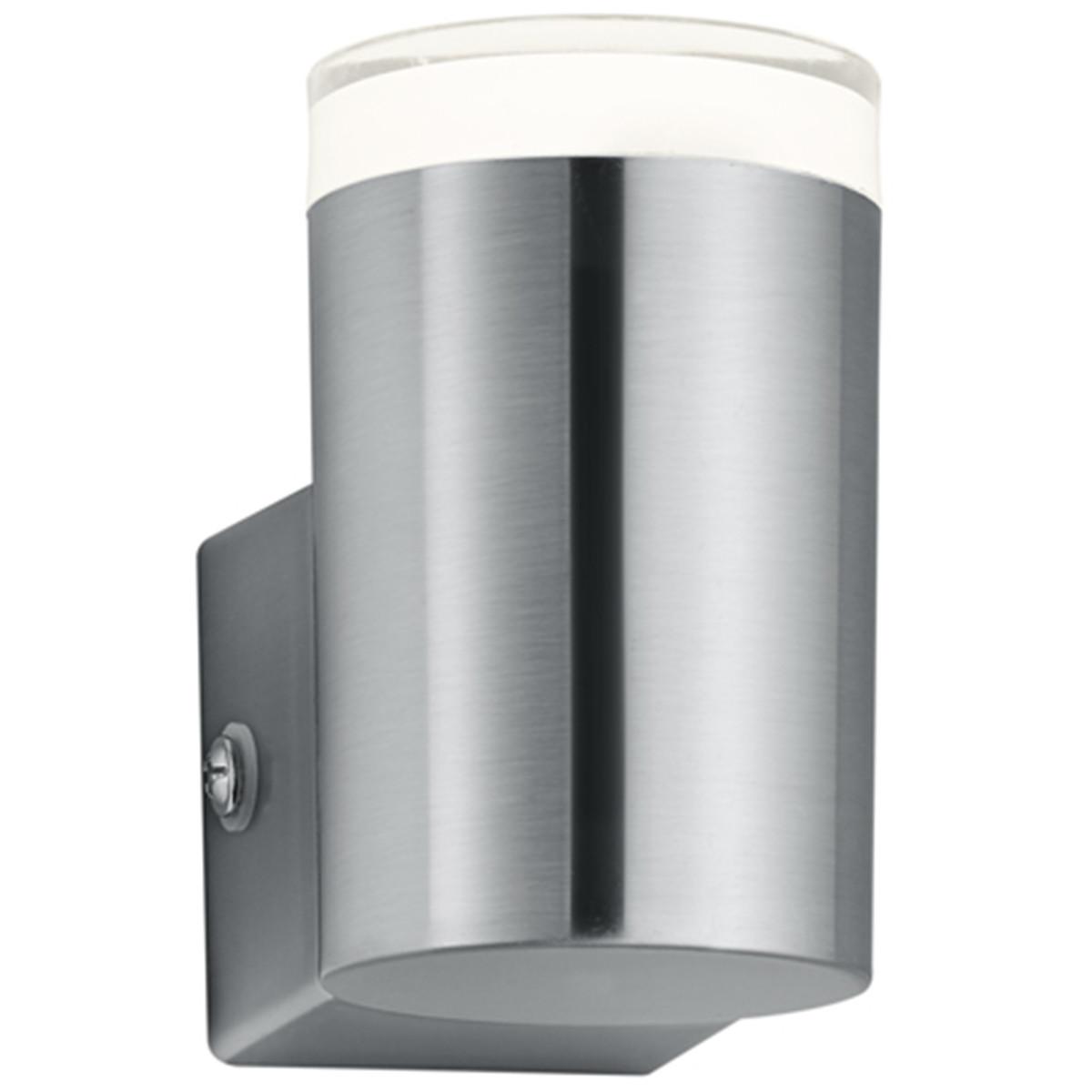 LED Tuinverlichting - Tuinlamp - Trion Arinat - Wand - 4W - Warm Wit 3000K - Rond - Mat Nikkel - Alu