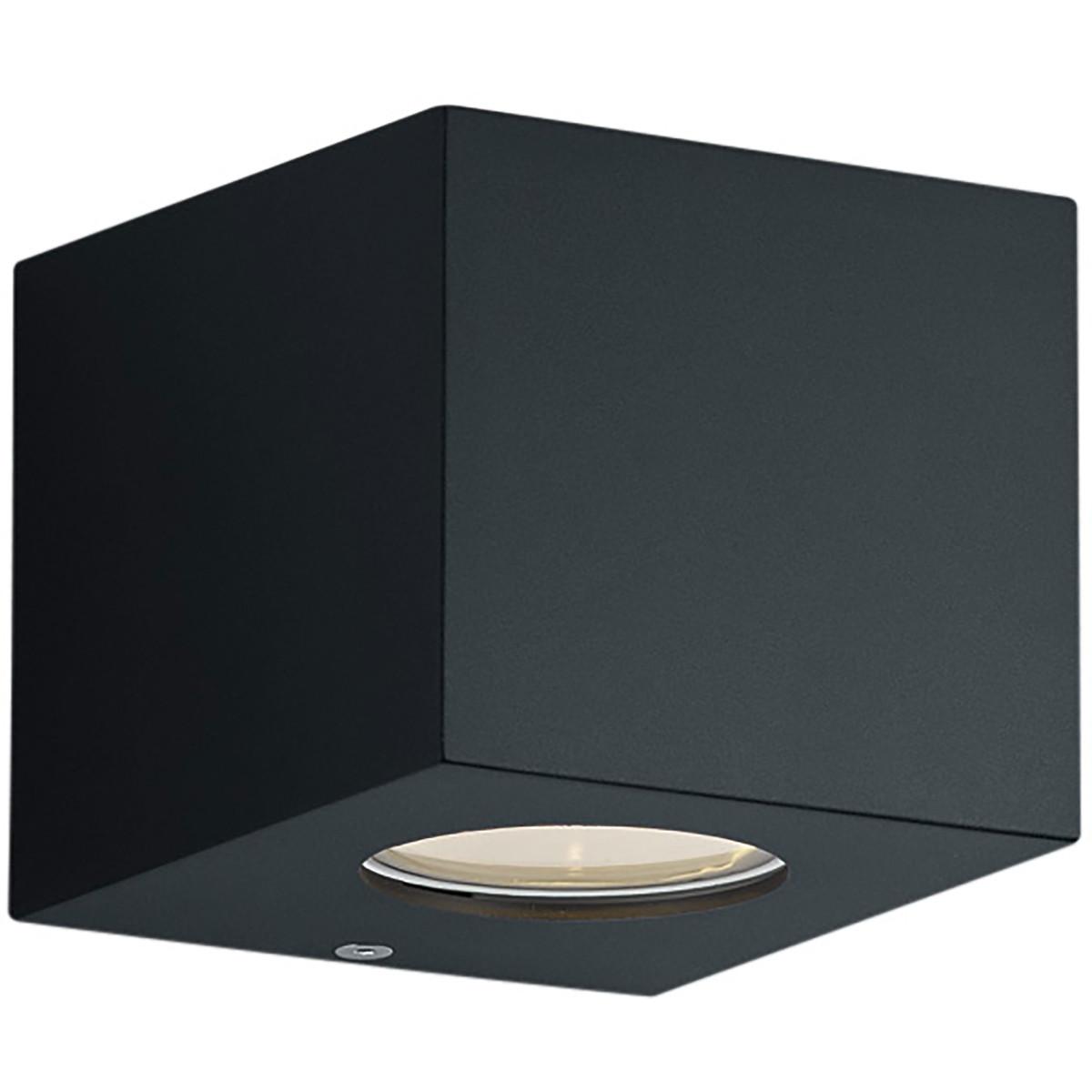 LED Tuinverlichting - Tuinlamp - Trion Corby - Wand - 4W - Mat Zwart - Kunststof