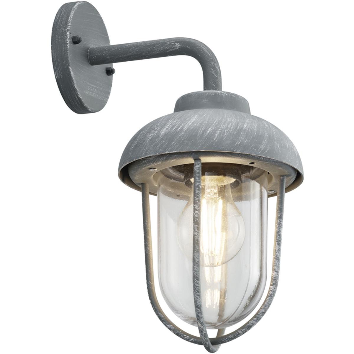 LED Tuinverlichting - Tuinlamp - Trion Dereuri - Wand - E27 Fitting - Beton Look - Aluminium