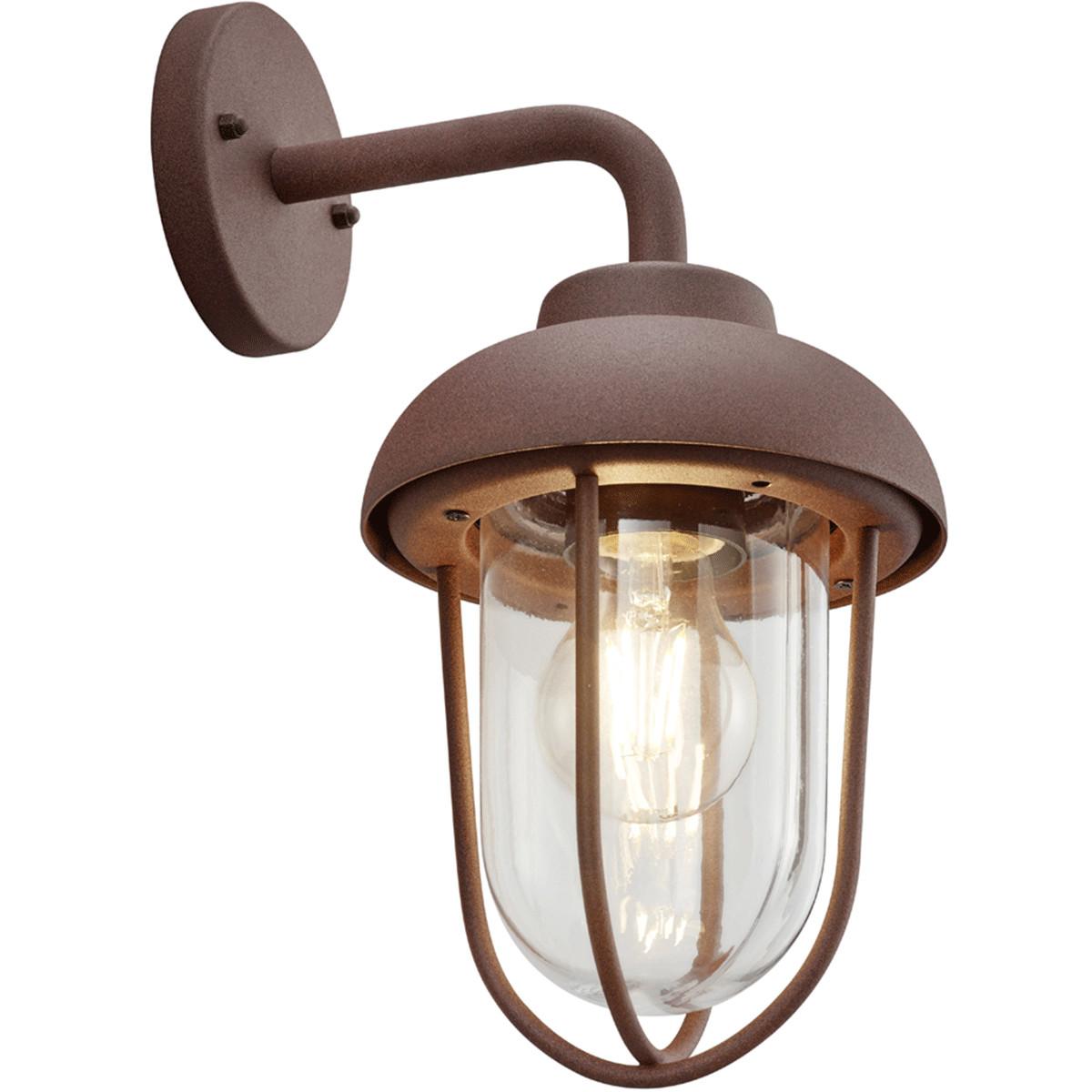 LED Tuinverlichting - Tuinlamp - Trion Dereuri - Wand - E27 Fitting - Roestkleur - Aluminium