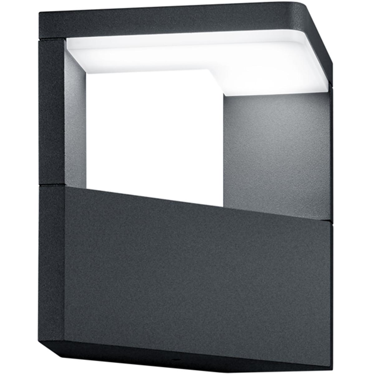 LED Tuinverlichting - Tuinlamp - Trion Gangy - Wand - 9W - Mat Zwart - Aluminium