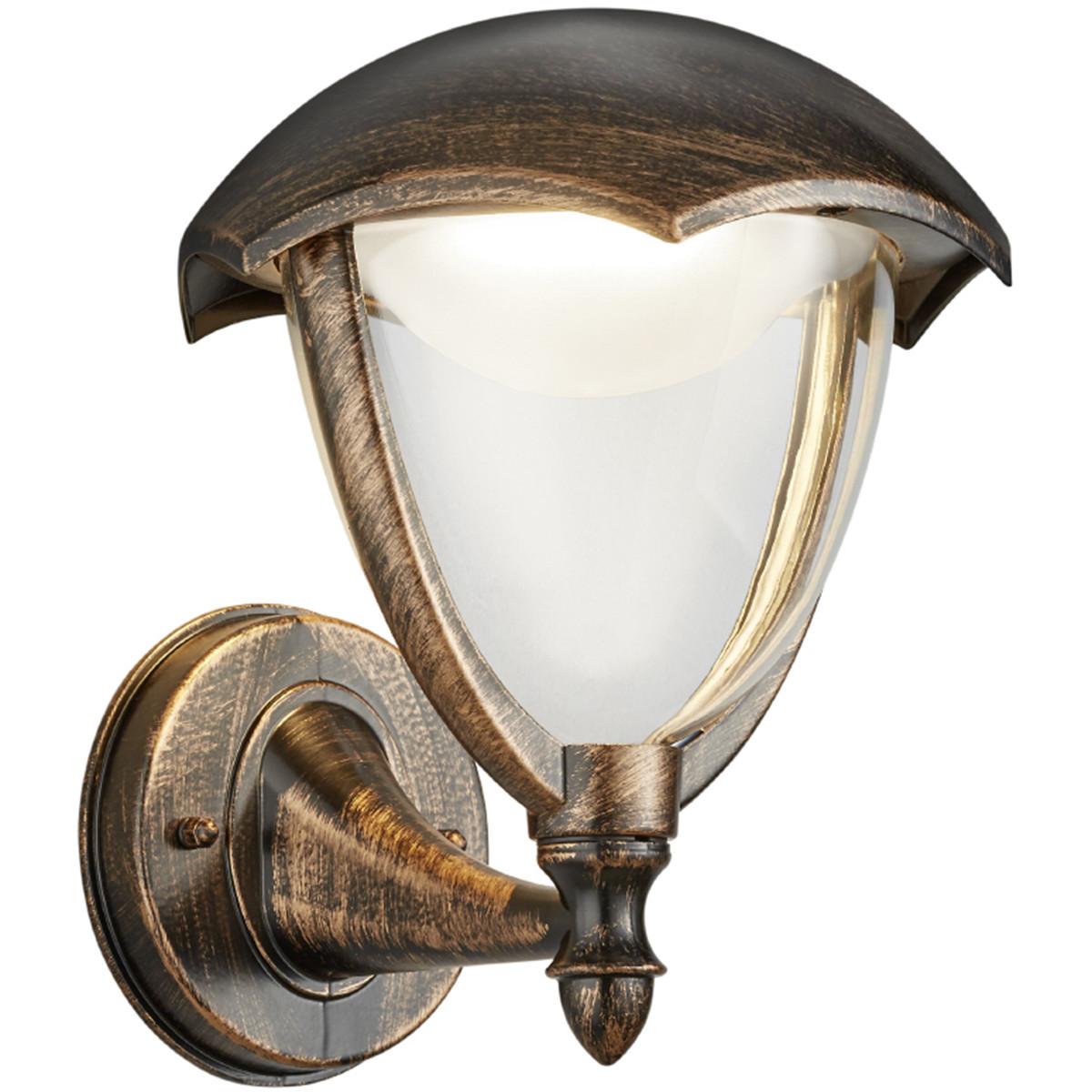 LED Tuinverlichting - Tuinlamp - Trion Grichto - Wand Omhoog - 6W - Antiek Roestkleur - Aluminium